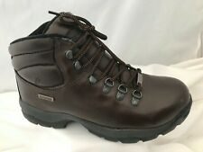 Hi Tec Eurotrek Brown Leather Lace Up Hiking Walking Ankle Boots Size 7