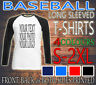 PERSONALISED MEN SPORTS STAG HEN BASEBALL LONG SLEEVED TEE T-SHIRT NEW CUSTOM