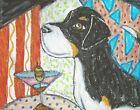 Greater Swiss Mountain Dog Art Print 4x6 Martini Collectible Signed Artist KSams