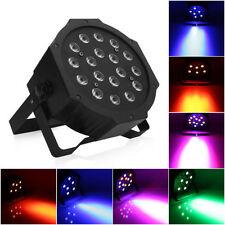 18-LED Stage Lighting 54W LED PAR38 DMX-512 Projector XMAS DJ Party Disco Light