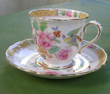 Vintage English Bone China Plant Tuscan Cup and Saucer