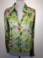NEW WINTER KATE SILK xs loose top blouse sheer white green ivory pink sleeve