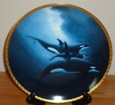Orca Trio Great Mammals of the Sea Hamilton Collector's plate Whales w/Box & Coa