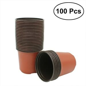 10/100pcs Plantes en Plastique/Pots de Fleurs Plateau de Semences Pépinière Pots