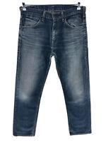 Levi's 504 Bleu Foncé Standard Jeans Coupe Droite Taille W32 L34