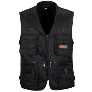 Fishing Mesh Vest Breathable Coat Men Mutil Pockets Camping Jacket Waistcoat Top
