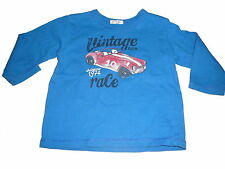 Benetton tolles Langarm Shirt Gr. 68 blau mit Auto Motiv !!