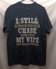 Men's Brisco M Blue Humor Deer Hunter Graphic T-Shirt Outdoors Crewneck SS NWT