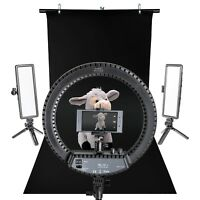 LED Continuous Ring Light Panel Table-Top Product Smartphone Photography