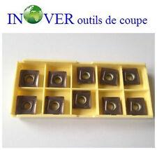 LOT DE 10 PLAQUETTES DE FRAISAGE SOMT12T308PEER-VP15TF POUR INOX ET ACIER