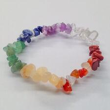Chakra Gemstone Crystal Bracelet Chip Beads Stretch Meditation Healing