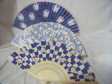 SANRIO Hello Kitty SENSU Japanese Folding Fan  Paper & Bamboo from Japan 3SET