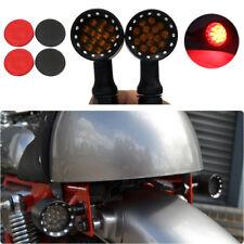 2x Chopper Motorcycle Black 20 LED Brake Stop Running Turn Signal Light Red 10mm