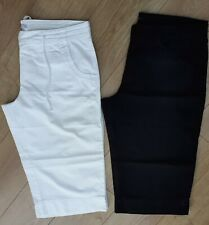 LADIES LINEN CROPPED PANTS X 2