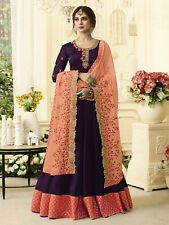Wine Color Abaya Style Georgette Salwar. Embroidered. Size 42. New.
