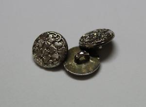 Lote de 3 BOTONES Vintage Hojas de Trebol Merceria Metal Mide 15mm Años 80.