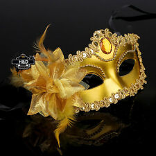 1X Gold Lace Flower Venetian Halloween Masquerade Ball Carnival Eye Masks Party