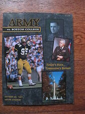 1991 Army Football West Point Military Academy Boston College Program NCAA