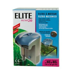 Power Filter Elite Hush 20 For Aquariums 10 to 20 Gls ( 38 to 75L )