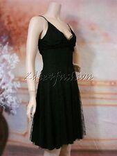 $2650 New SALVATORE FERRAGAMO Sexy Black Lace V Cut Neckline Dress 10 46