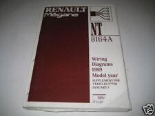 Workshop Manual Wiring Diagram Renault Megane Supplement ab 01/1999