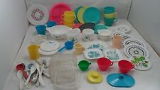 HUGE Lot VTG Mod Child's Pretend Play Dishes Irvin Gothamware Andy Gard Chilton