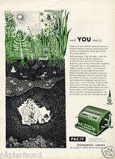 Machine a calculer facit suecia publicitarias estados unidos 1955 Calculator publicidad ad calculadora
