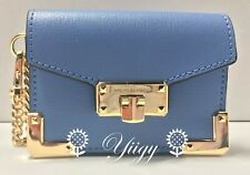 🌻 Michael Kors Card Case Holder French Blue Attach as Bag Charm New Auth 🌻