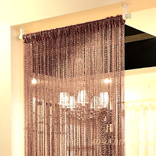 String Door Curtain Beads Room Divider Crystal Tassel Window Panel Fringe Beaded