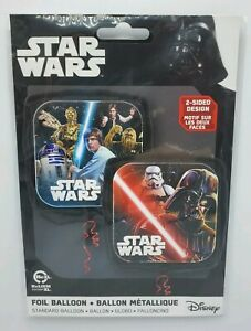 "New Star Wars Party Decorations Mylar Foil Balloon 17"" 2-Sided Double Birthday"