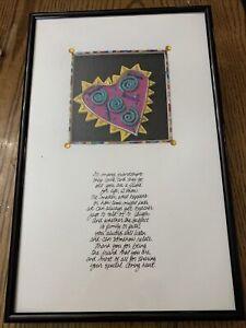 Bright Star Designs Heart Friendship 3 Dimensional Art Signed Framed 1994