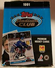 Unopened 1991-92 Topps Stadium Club Hockey Box NHL 36 Sealed Packs