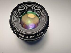 Used Canon EF 50mm f/1.4 USM lens
