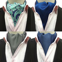 Men Fashion Houndstooth Paisley Long Scarves Cravat Ascot Wedding Neckties HZ231