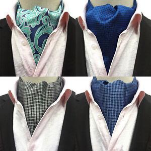 Men Fashion Houndstooth Paisley Long Scarves Cravat Ascot Wedding Neckties HZ231