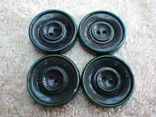 VINTAGE 4 X LARGE GREEN PLASTIC, LUCITE OR BAKELITE BUTTONS 27MM