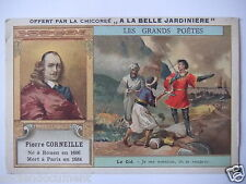 """CHROMOS CHICORÉE LA BELLE JARDINIÈRE """" CORNEILLE LE CID """" OFFERT PAR C. BÉRIOT"""
