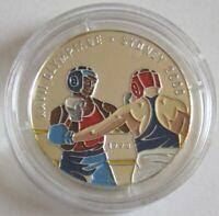 Kongo 1000 Francs 1998 Olympia Sydney Boxen Silber