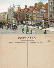 1920's OLD HOUSES HOLBORN LONDON UNUSED COLOUR POSTCARD