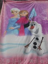 Disney Frozen Ultra Soft Blanket/Throw Frozen Hearts Anna, Elsa and Olaf-New!