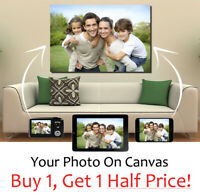 Your Photo On Personalised Box Canvas Art - LARGE + EXTRA LARGE PICTURE SIZES