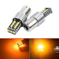 2x Amber BA15S R5W 1157 5050 15SMD LED Car Tail Turn Signal Light Bulb Lamps New