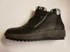 Womens Cipriata Ankle Black Faux Leather Boots Wedge Heel Zip Winter Warm Boots