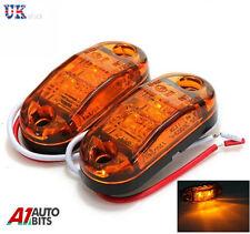 2x 12v 2SMD LED Naranja Ámbar Luces de marcaje para IVECO DAF MAN SCANIA
