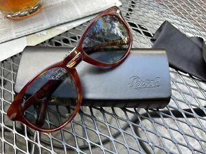 Persol Folding Steve McQueen Tortoise Sunglasses w/ Case PO0714SM