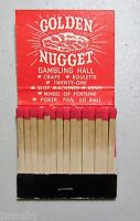 VINTAGE Matchbook Golden Nugget Gambling Hall Downtown Las Vegas Nevada