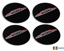 MINI NEW OEM R52 R53 R54 R55 R56 R57 R58 R59 JCW LOGO CENTER CAP STICKERS 4 PCS