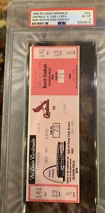 Historic Psa 6 1998 Mark McGwire 62 HR Full Ticket