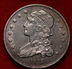 1837 Philadelphia Mint Silver Capped Bust Quarter