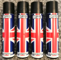 4 x Clipper Lighters UNION JACK Gas Lighter Refillable You get all 4 NEW